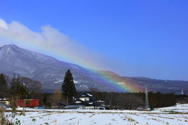 虹が架かった日は~