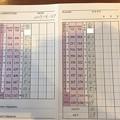 アシカンファミリーのポッチャリ王子宮くんの4月平日杯のスコアカード2017.4.27