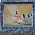 """平田玉薀 """"美人舟遊図""""@持光寺の庭のアート@古寺めぐり"""