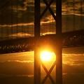 夏のしまなみ海道@燃える夕陽@因島大橋
