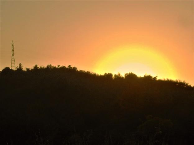 平木山の落日