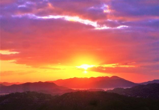 瀬戸内海の初日の出@千光寺山展望台