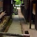 写真: 宿場の路地