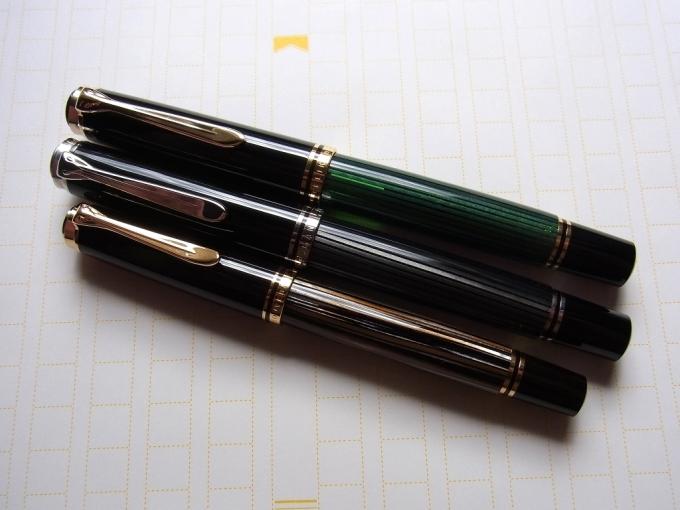M400 茶縞 & M805 黒縞 & M800 緑縞