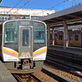 上越線E129系@越後湯沢駅