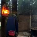ランプは木に掛ける