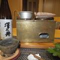 燗銅壺と磯焼き