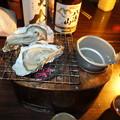 燗銅壺と牡蠣