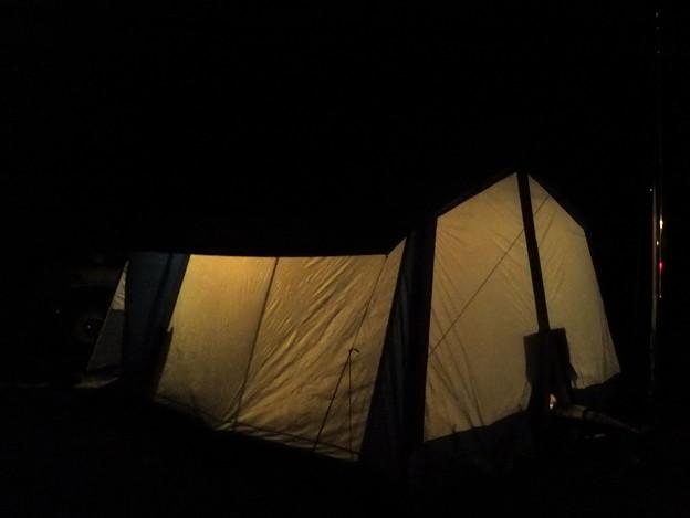 冬のテント