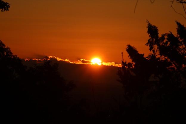 写真: 今朝の日の出