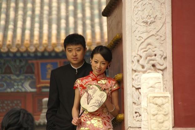 結婚記念写真を撮る
