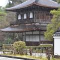 写真: 雨の銀閣寺