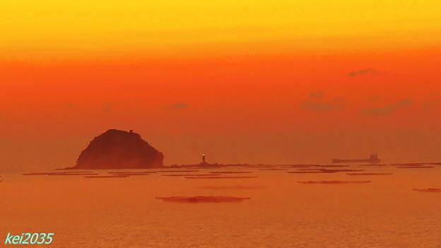 錦海湾の朝景
