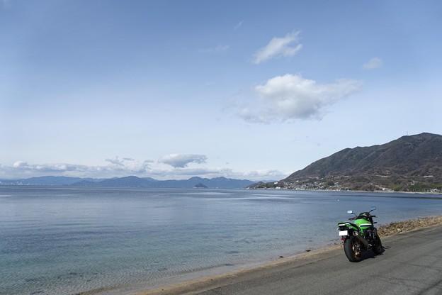 海とバイク・・・