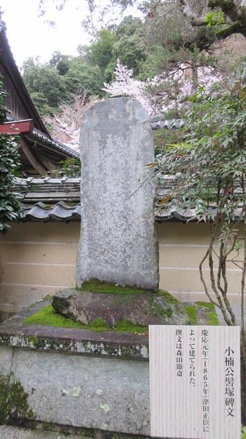 如意輪寺(吉野町吉野山)小樟公髻塚の碑