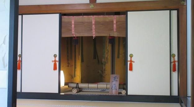 清見寺(清水区)書院・御成りの間・玉座