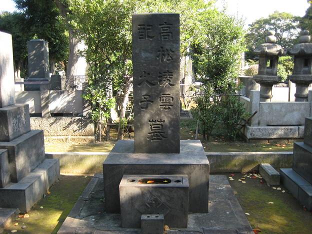 谷中霊園(台東区)高松凌雲墓