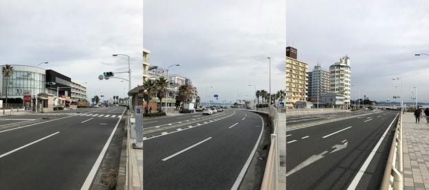 国道134号線(藤沢市片瀬海岸)