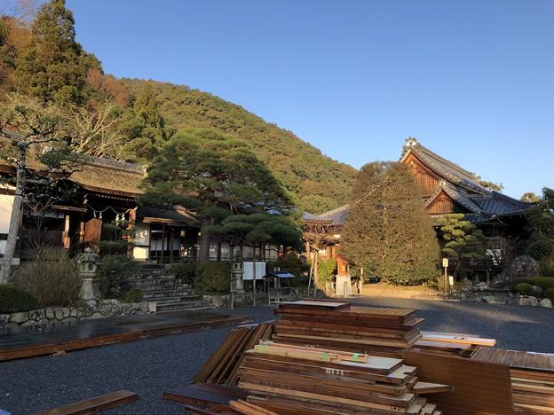 松尾大社(西京区)社務所と松尾山尾根