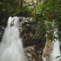 写真: 滝に秋色
