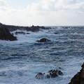 尖閣湾揚島遊園からの尖閣湾の荒波