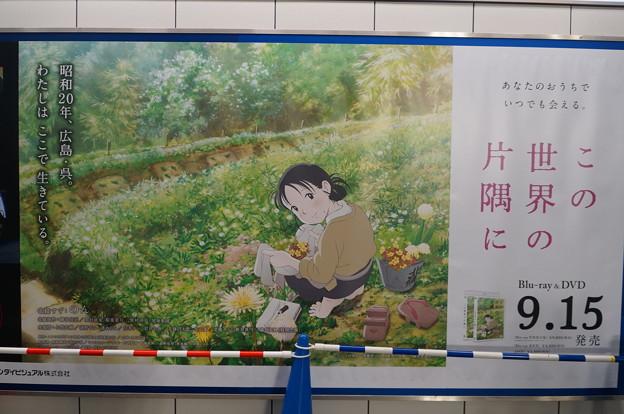 コミケ92 国際展示場駅構内 この世界の片隅に 壁面広告