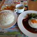 Photos: ガスト 目玉焼きハンバーグランチ(*^^*)