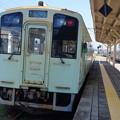 写真: 樽見鉄道 ハイモ330形 岐阜いちごラッピング電車