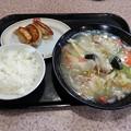 王将 日替わり麺ランチ 塩あんかけそば  餃子&ライス