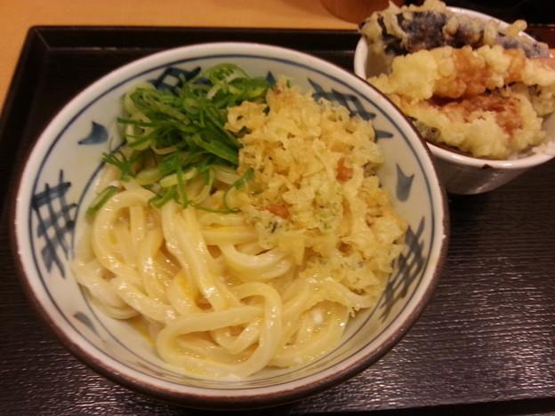瀬戸うどん  かま玉うどん ミニ天丼 o(^o^)o