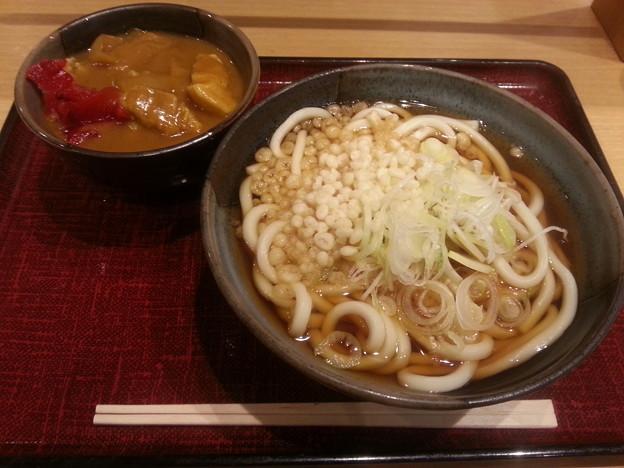 たぬき ミニカレー丼セット(  ̄▽ ̄)