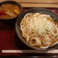 写真: たぬき ミニカレー丼セット(  ̄▽ ̄)