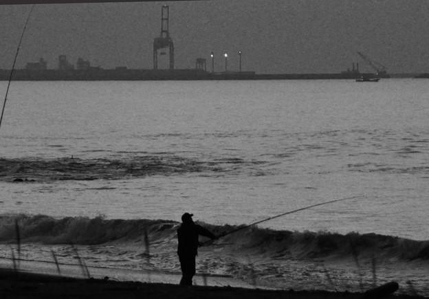 釣り人がいる風景