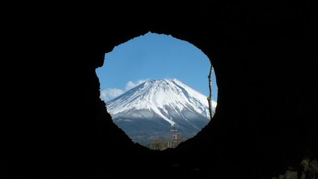 溶岩樹型より望む? 富士山2