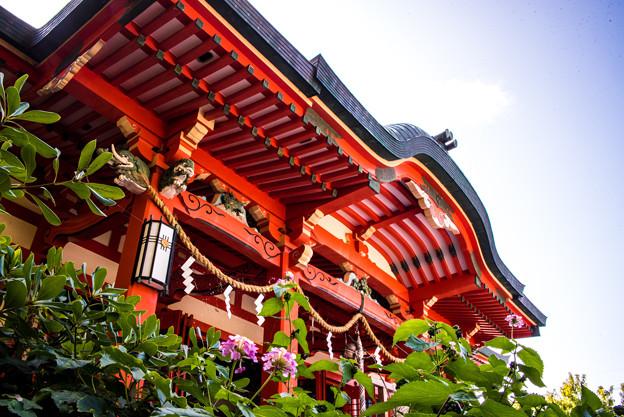 淡嶋神社の拝殿