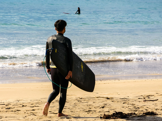 いざ、波に挑む。