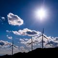 写真: 北風と太陽