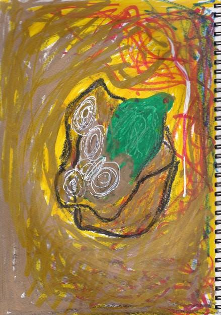 p9684.「コブラと蝸牛の入った腰巾着」
