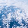 写真: 雲間に