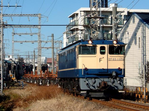 JR東日本EF65 1105+チキ 2003-1-25