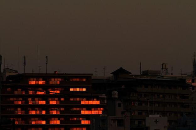 夕陽のあたる家