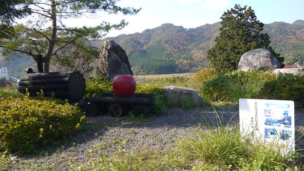 津和野の国道9号、マルホりんご園付近駐車場(3)