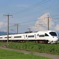 夏の雲と電車