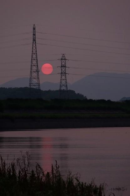 英彦山川の夕景