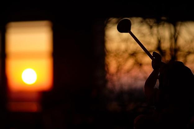 写真: 秋の夕景