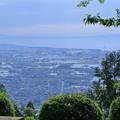 あさひ城山から 富山湾と能登半島