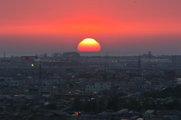 日本海に沈む夕陽