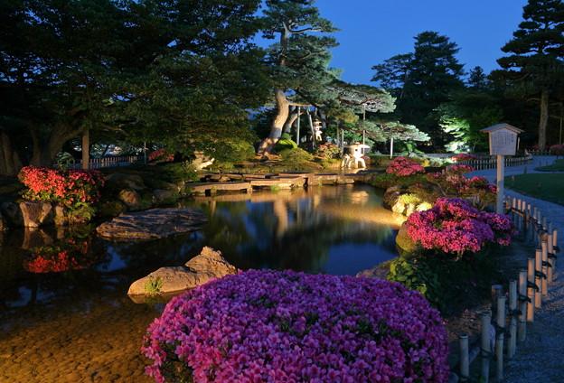 初夏の兼六園 七福神山と曲水