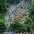 姥ヶ滝と足湯