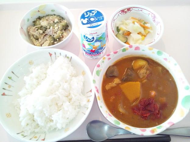 8月18日昼食(夏野菜のチキンカレー) #病院食